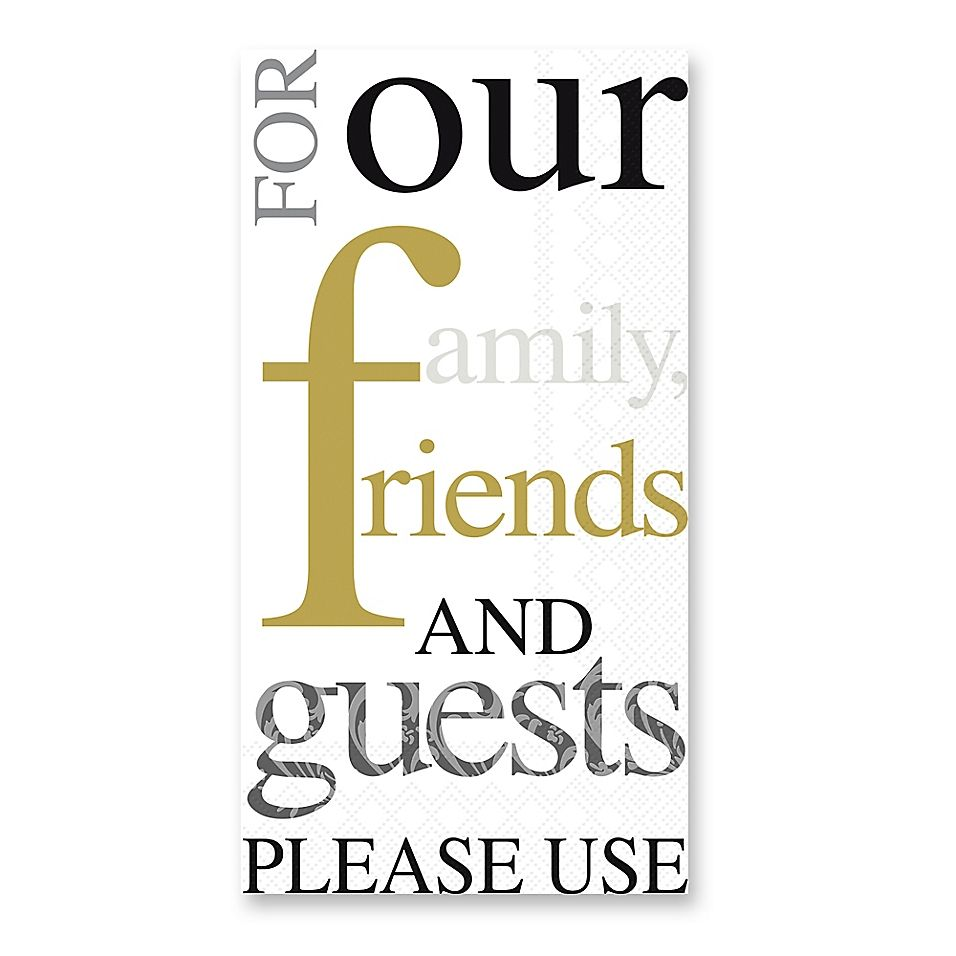 Gold And Black 32-Count Paper Guest Towels (With Images