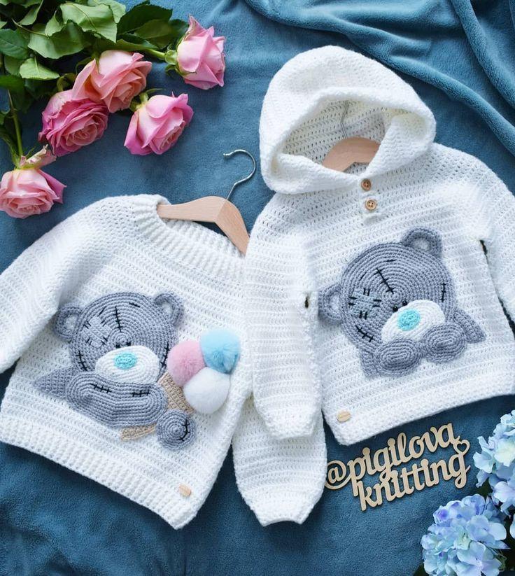 Baby Strampler Set Häkelmuster Neugeborene Jungen Strampler Overall Outfit beig…