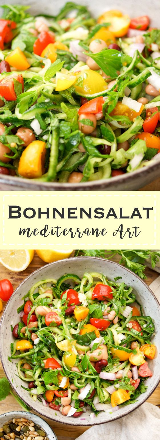 Bohnensalat mediterrane Art #czechrecipes