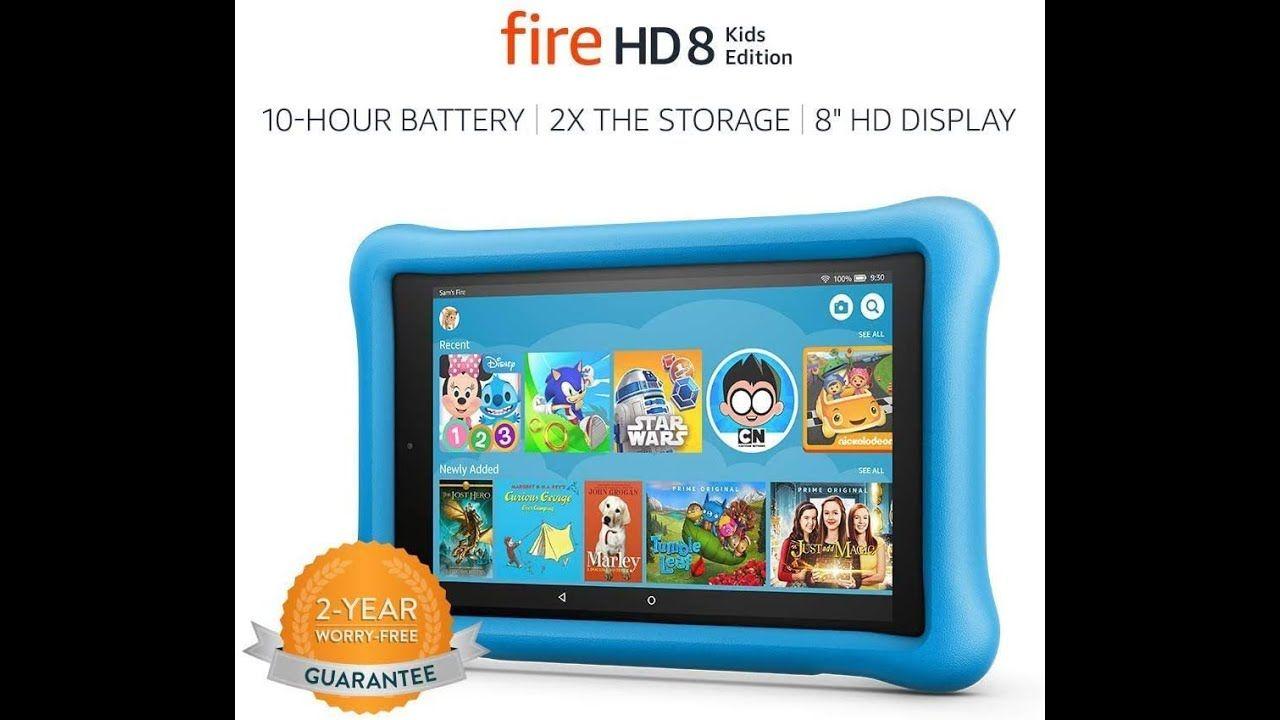 Fire HD 8 Kids Edition Tablet, 8 HD Display, 32 GB, Blue Kid-Proof Case