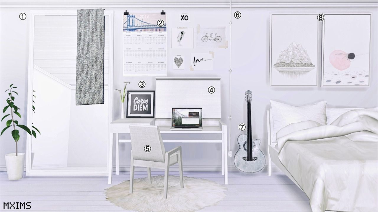 Maxims S 2752 Followers Gift Bedroom Mirror By Sims 4 Cc Möbel Sims 4 Häuser Sims Haus