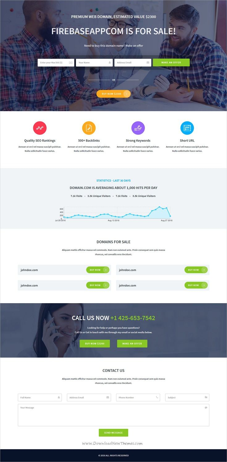 Domain broker is clean and modern design #bootstrap template for ...