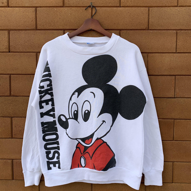 Vintage 80 S Disney Mickey Mouse Sweatshirt Crewneck Full Printed Animated Mickey Mouse Pullover Jumper In 2021 Mickey Mouse Sweatshirt Sweatshirts Printed Sweatshirts [ 3000 x 3000 Pixel ]