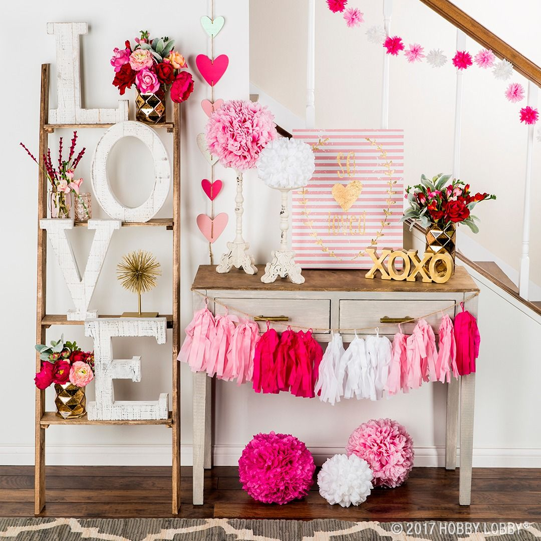add pops of gold, pink and red to everyday decor for a valentine's
