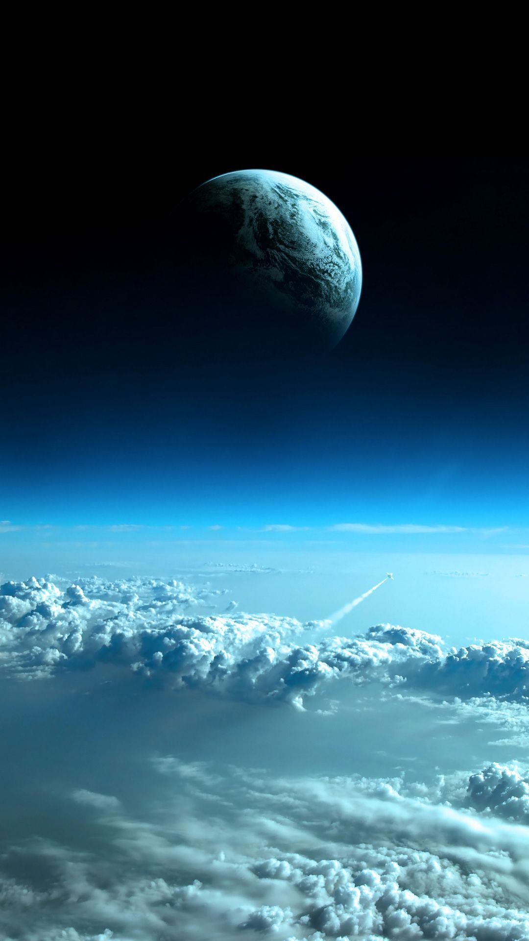 Mond Wolken Wallpaper Space Mobile Wallpaper Android Android Wallpaper Space
