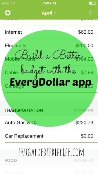 build a budget with the everydollar budget app