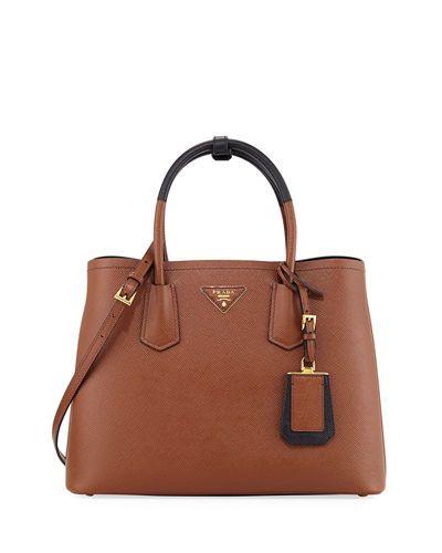3551f1fb1a1d PRADA SAFFIANO CUIR SMALL DOUBLE BAG.  prada  bags  shoulder bags  hand