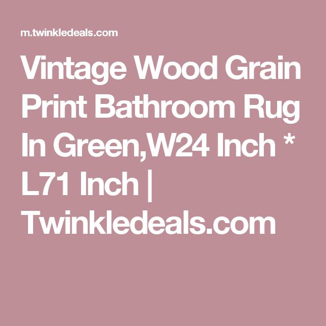 Wood Grain Print Rug: Vintage Wood Grain Print Bathroom Rug