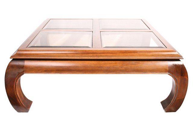 41x41x16 Ming Style Henredon Coffee Table