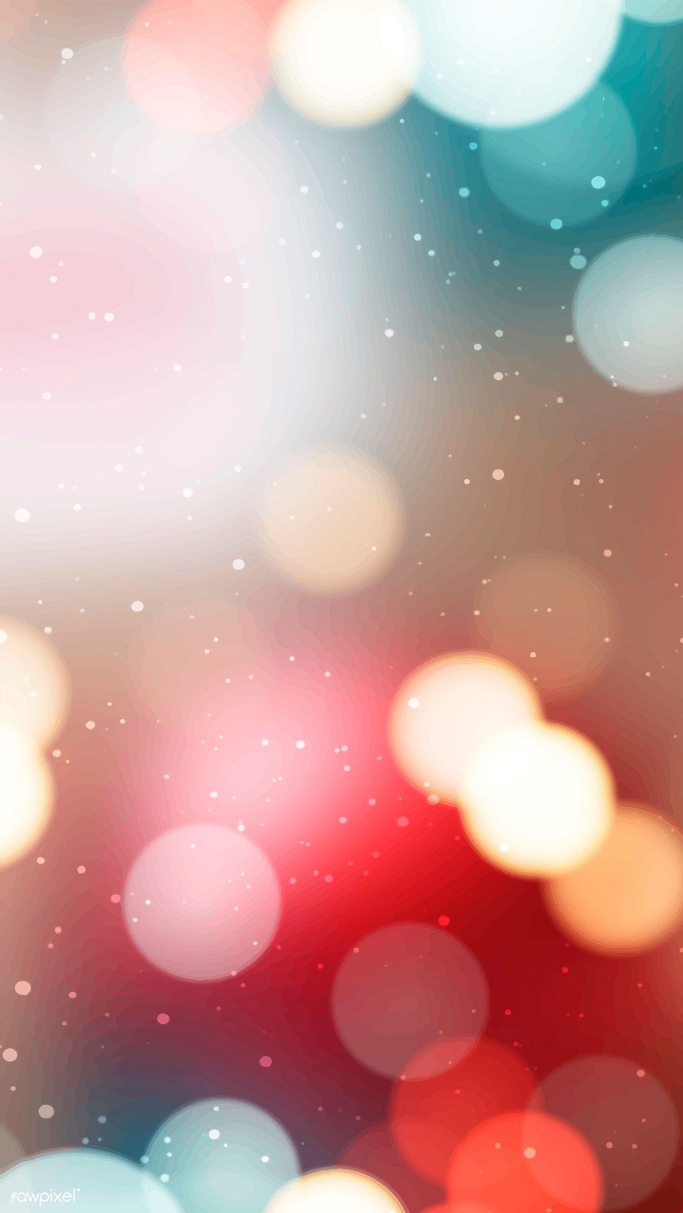 Download Premium Vector Of Blurry Colorful Christmas Bokeh Light Mobile Bokeh Lights Bokeh Phone Wallpaper