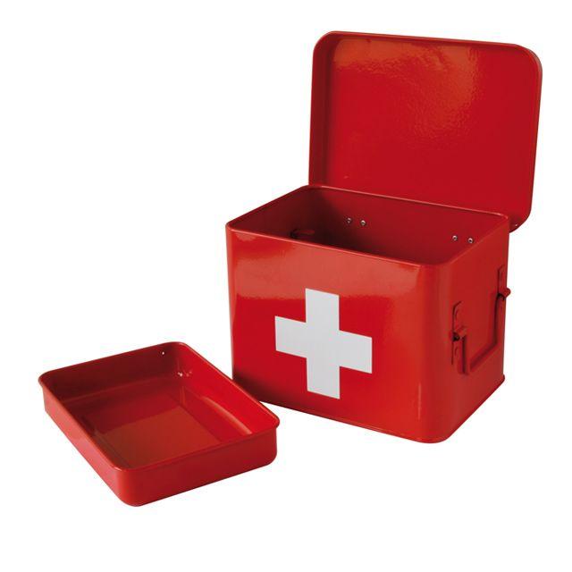 Boite Pharmacie Petit Modele Metal Rouge Castorama Boite A Pharmacie Pharmacie Boite