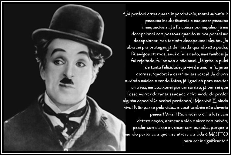 Charles Chaplin Frases A Vida é Uma Peça De Teatro: Frase De Charles Chaplin Renove A Sua Mente T Quotes