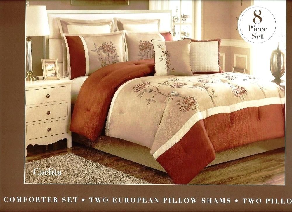 Rust Coloured Duvet Covers Rust Duvet Covers 8 Pc