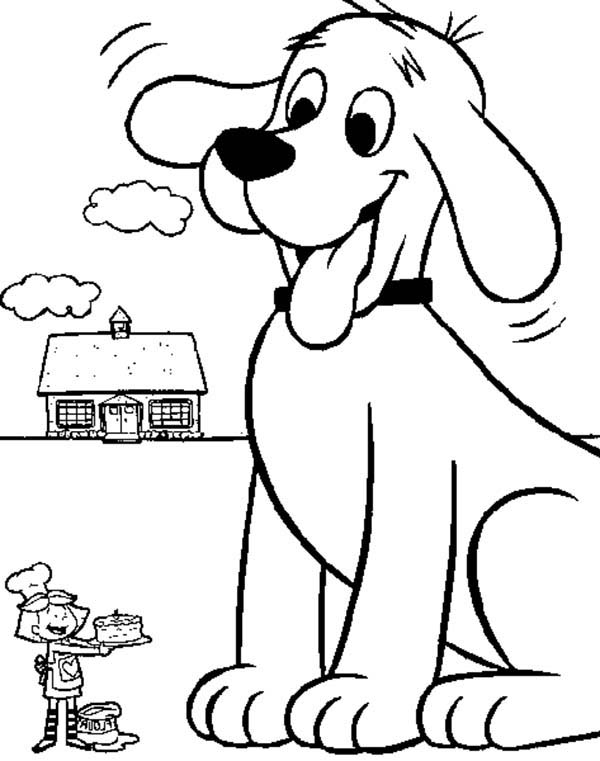 Emily Cooking A Cake For Clifford The Big Red Dog Coloring Page Coloring Sun In 2020 Dog Coloring Page Puppy Coloring Pages Cute Coloring Pages