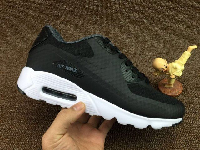 new styles 24a55 a67a2 Mens Nike Air Max 90 Ultra Essential Running Shoes Dark Grey White Black  819474 013