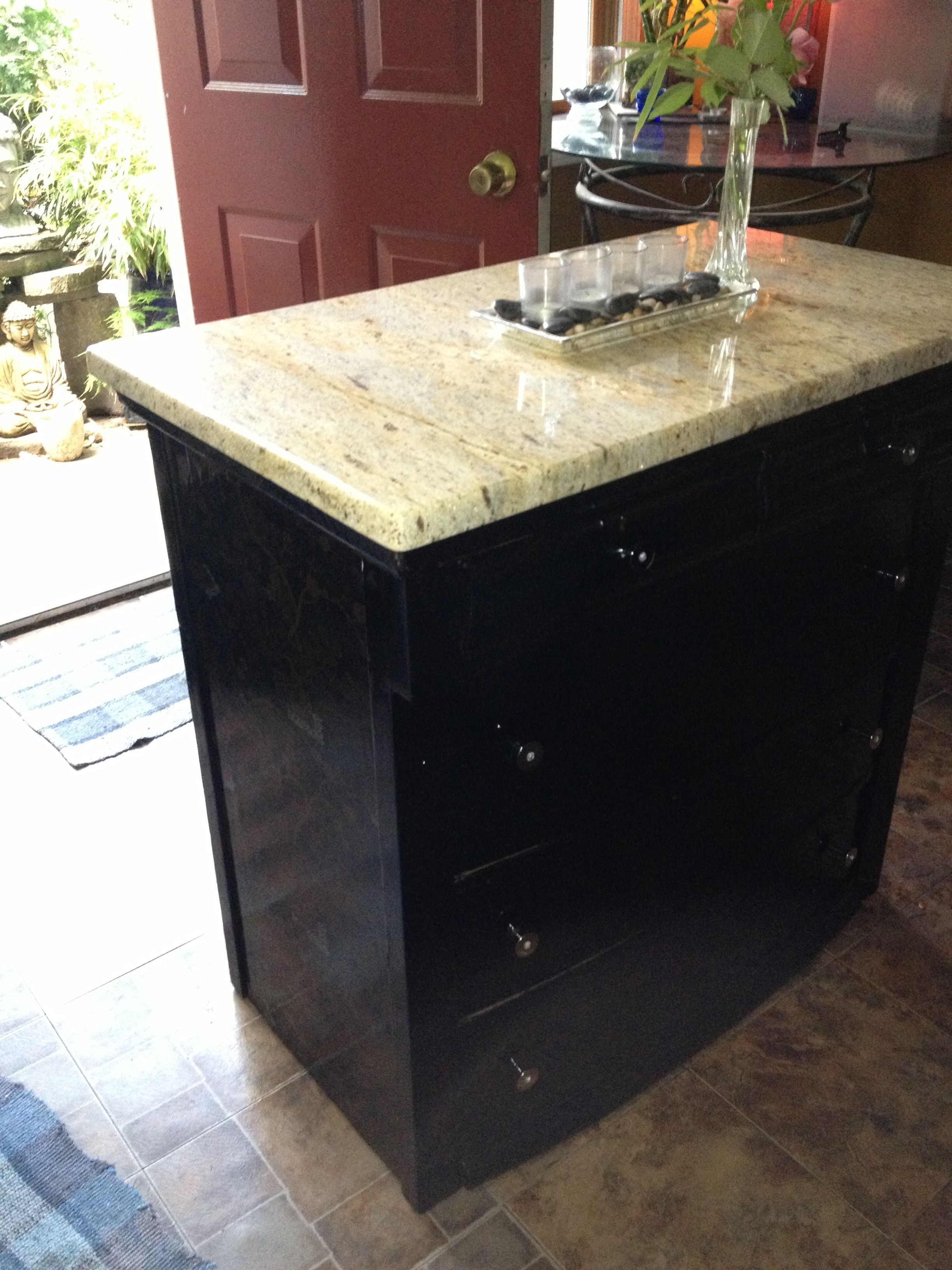 Repurposed Old Dresser Turned Kitchen Island, Spent $270