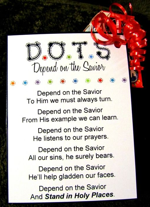 dots-depend on the Savior | Ideas for Young Women ...