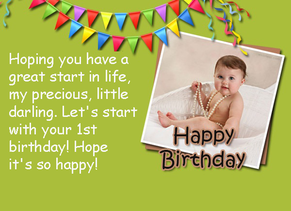 Happy 1st birthday to the little baby girl or boy wish