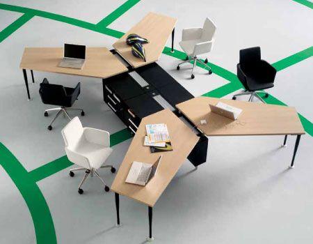 Disposizione Scrivania Ufficio : Bos frezza office desks desking space office systems