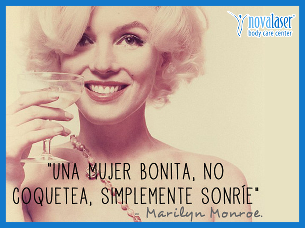 Frase Motivadora Mujer Bonita Sonrie Marilyn Monroe