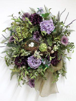 Handmade Door Wreaths, Holiday Wreaths and Centerpieces - Country Front Door Wreath!