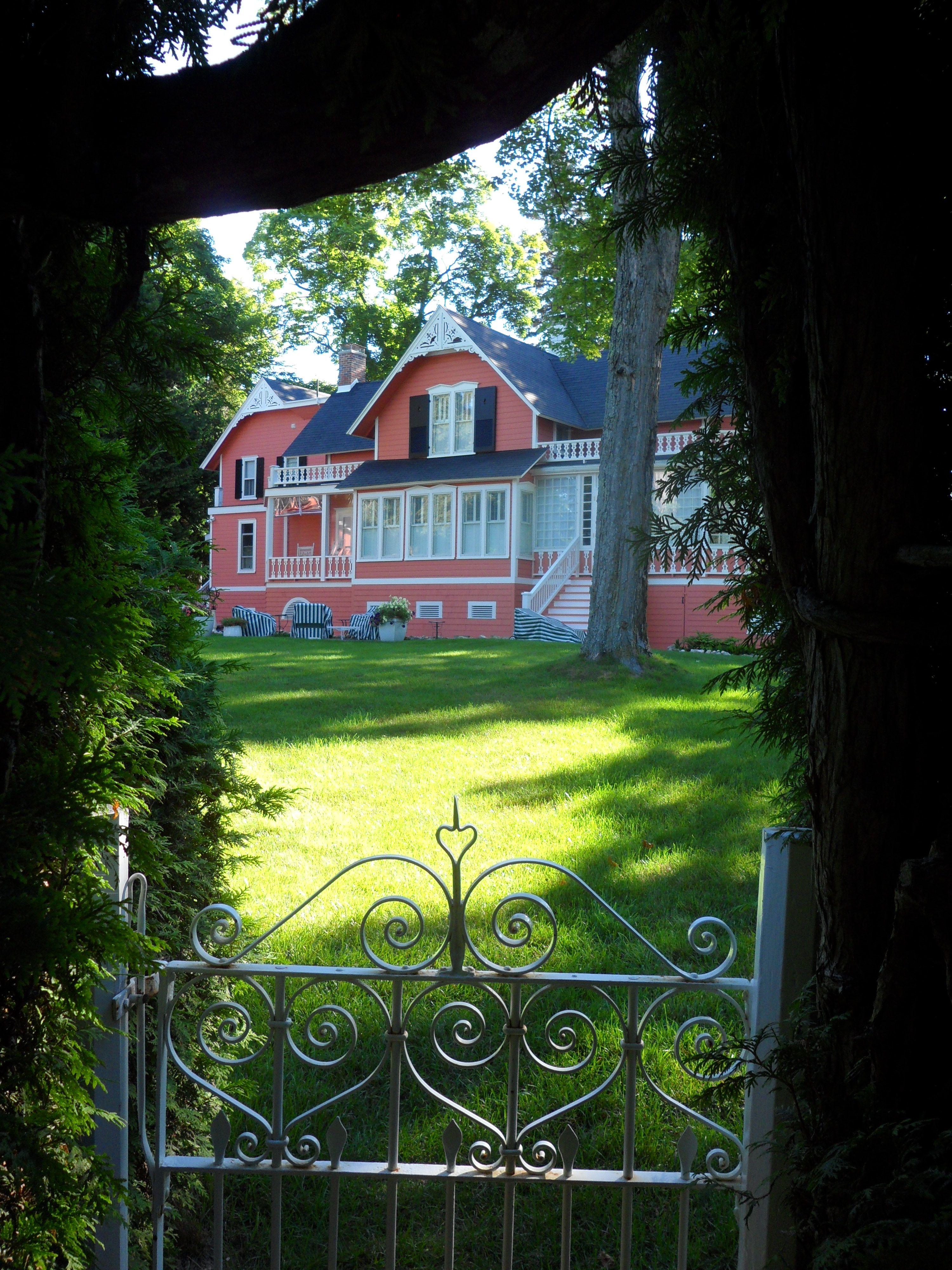A House On Mackinaw Island Off Of The Beaten Path So Quaint Grand Hotel Mackinac Island Mackinac Island Mackinac Bridge