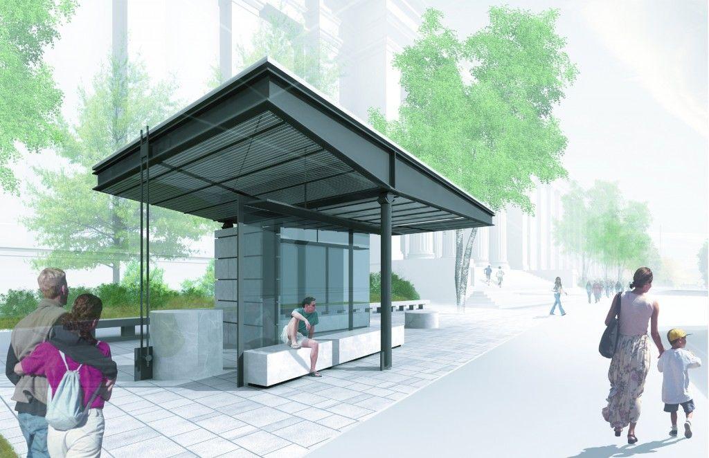 Cambridge Bus Stop With Images Bus Stop Bus Stop Design