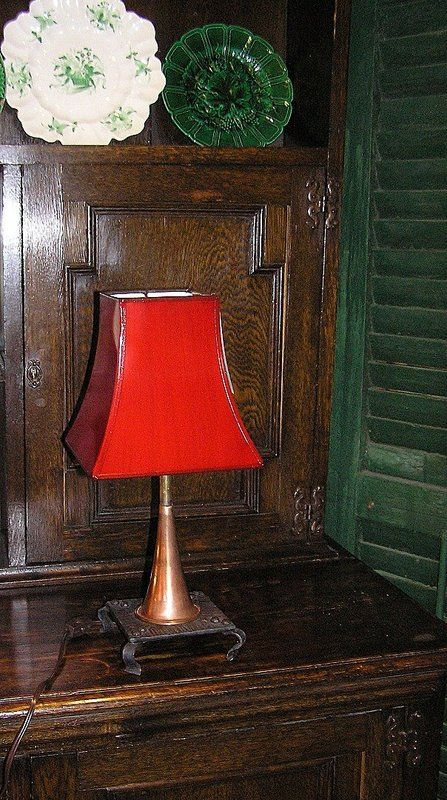 Old Fox Hunting Horn Lamp