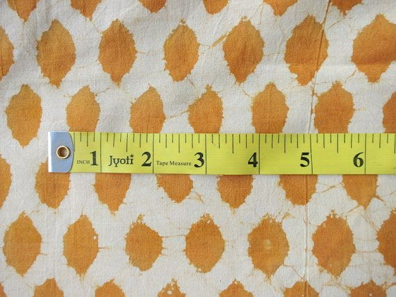Batik Print Fabric Abstract Dots Print Cotton by theDelhiStore