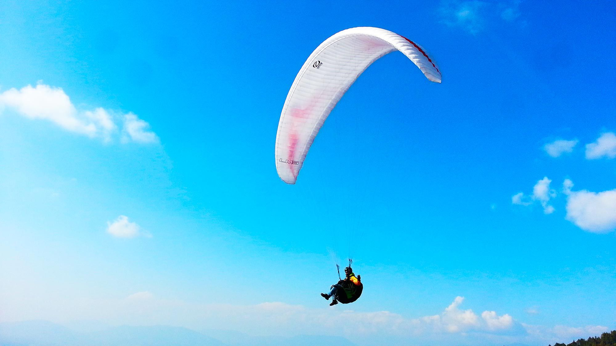 Paragliding adventure sports.