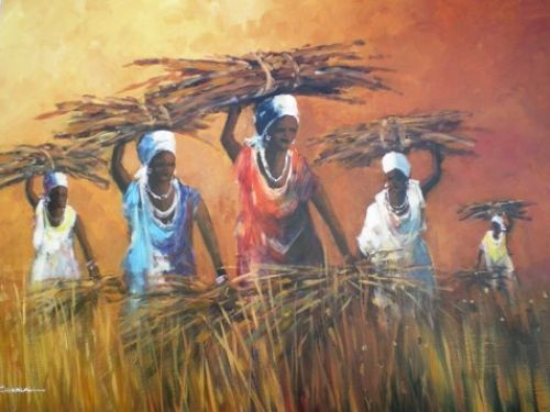 Purchase artwork White Scarf Day - Oil Painting by South African Artist Mauro Chiarla