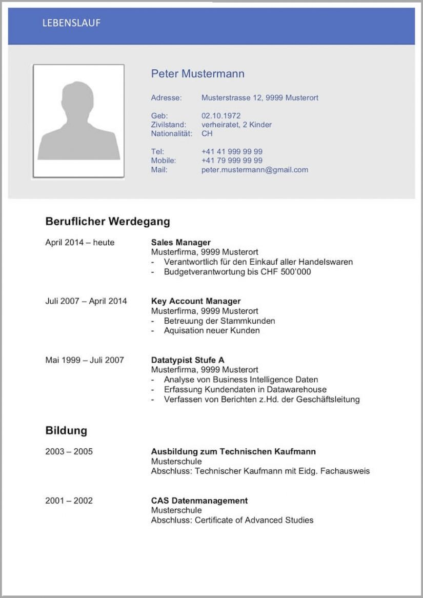 Bewerbung Bundeswehr Muster