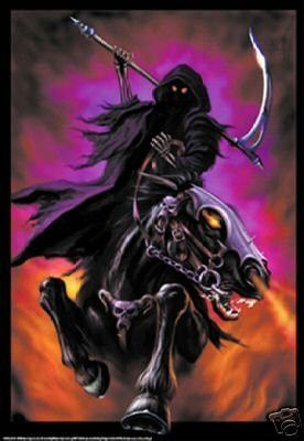 Grim Soul Reaper Evil Dark Poster - Horseman - Rare New | R I P