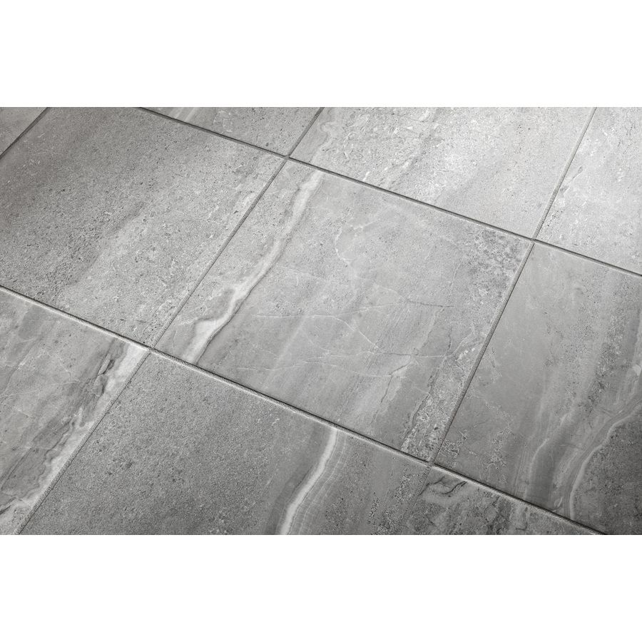 Shop Style Selections 8-Pack Skyros Gray Glazed Porcelain Indoor