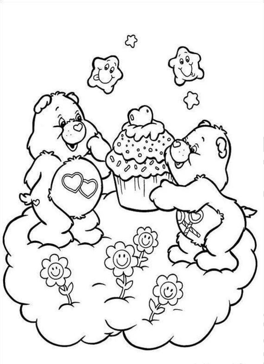 Care Bear Coloring Pages Printable Coloring Page Pinterest