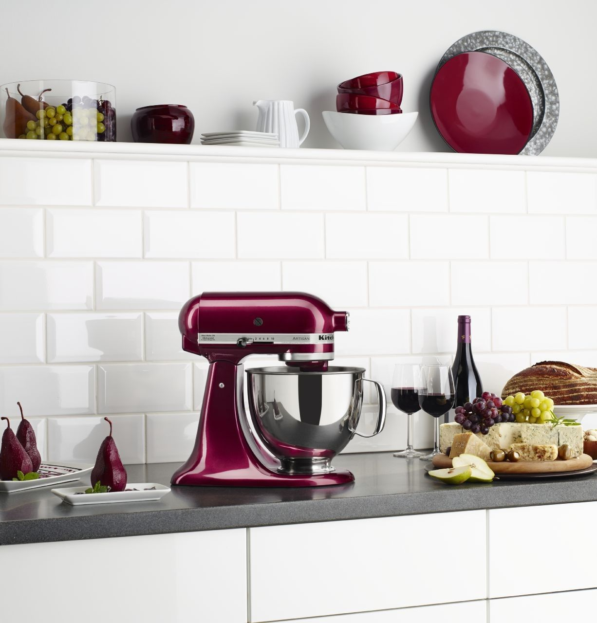 SHOP KITCHEN AID   This KitchenAid Artisan Mixer Is In The Ever Popular  Color, Bordeaux