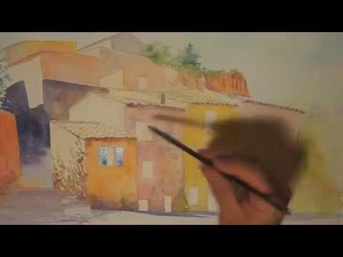 Demo Aquarelle Quot Facades A Roussillon Quot Watercolor