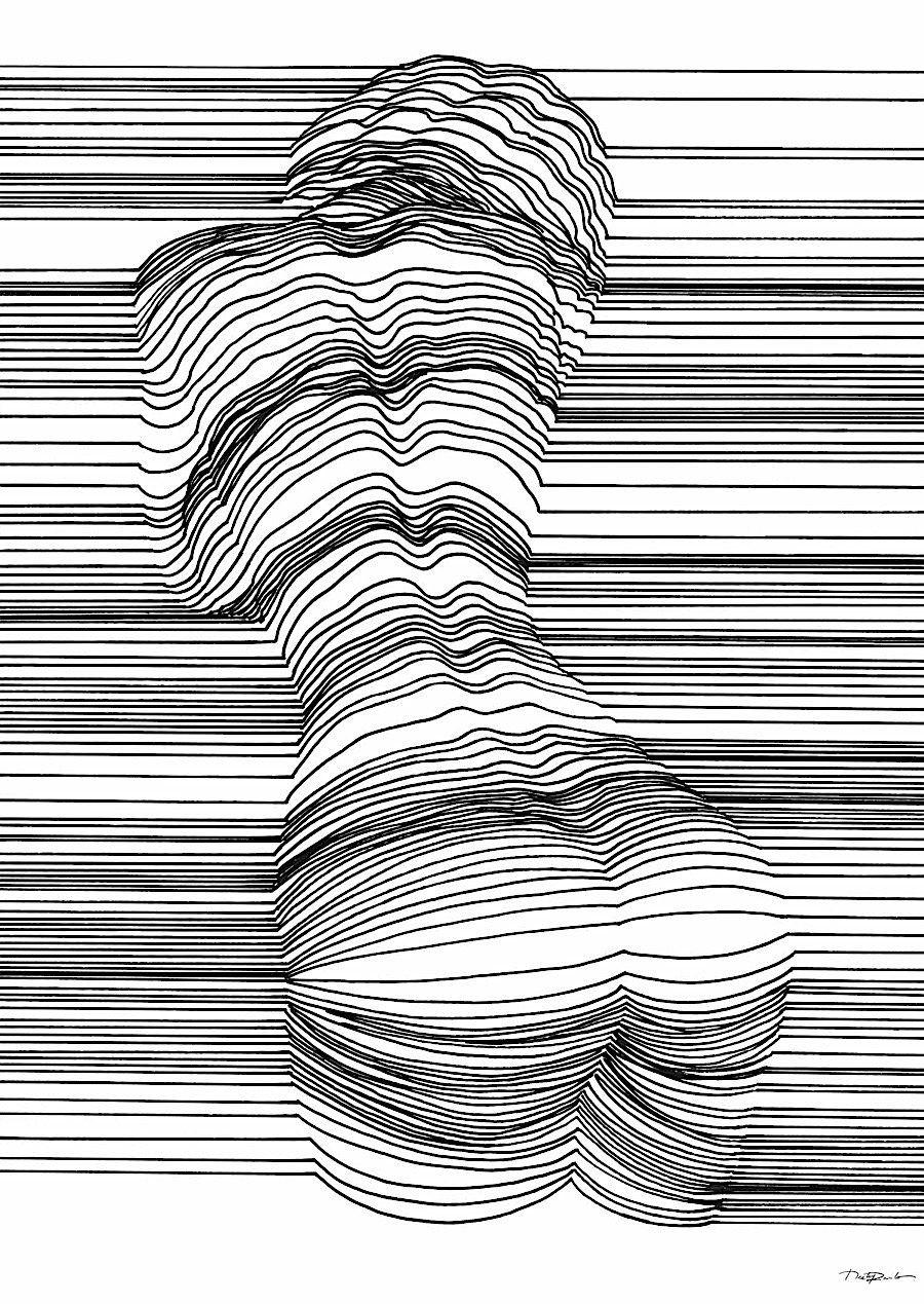 3d Line Drawing : Optische täuschung mit d effekt durch geschickte