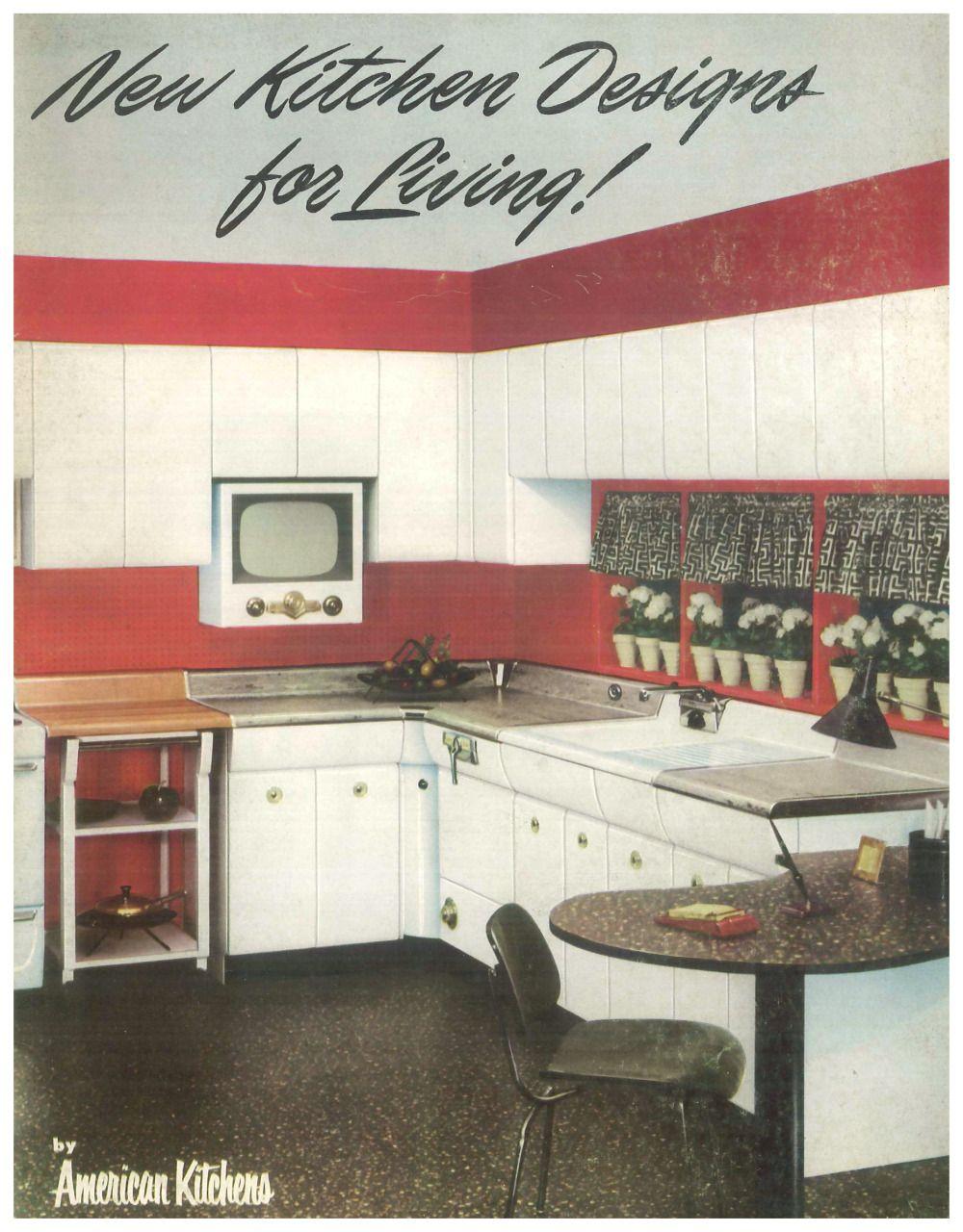 Pin By Larissa Lemke On 1950 S Americana New Kitchen Designs American Kitchen Retro Appliances