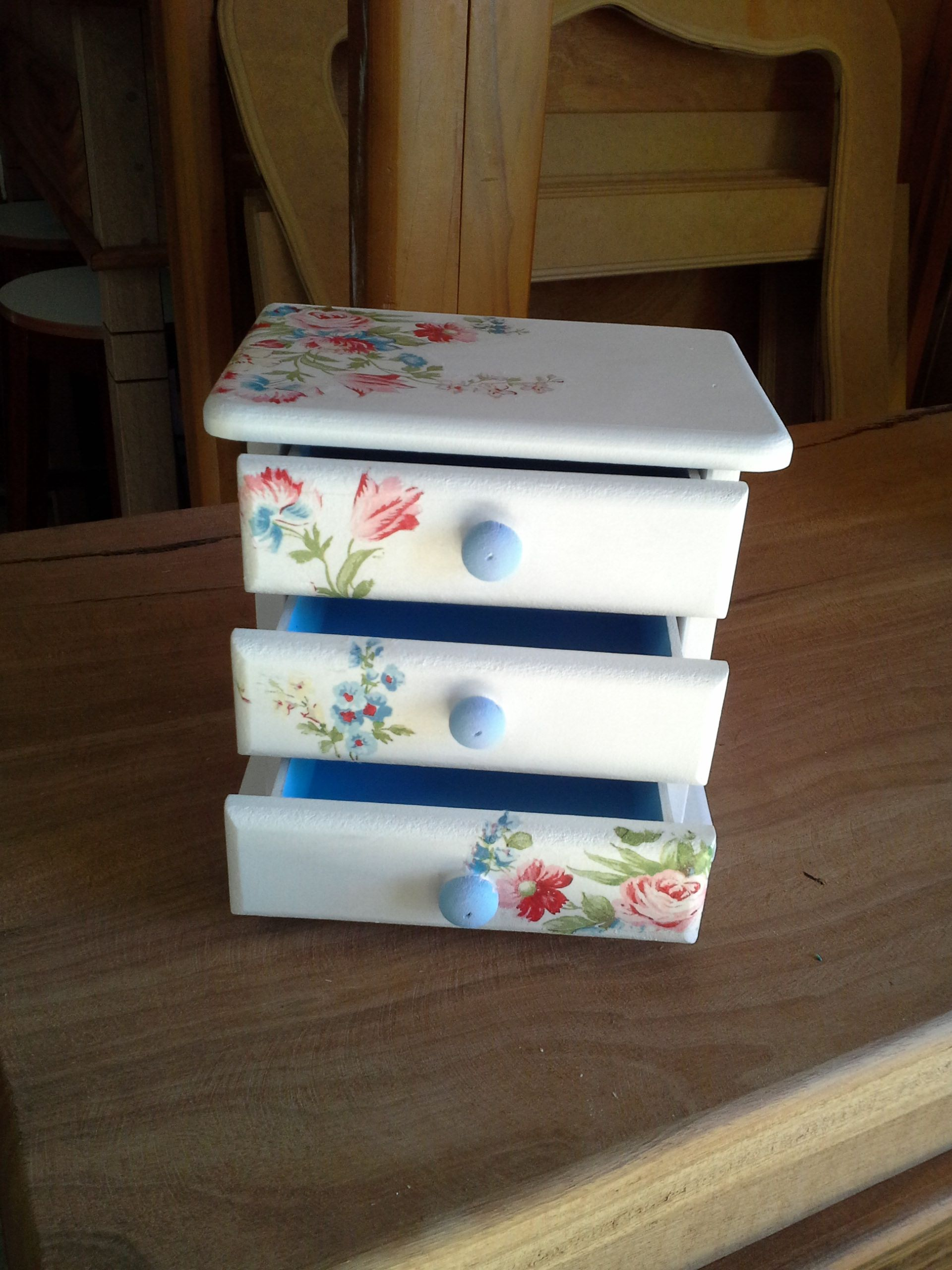Decoupage En Muebles Mini Cômoda Ideas Vintage Para Decorar Cajas Decoradas