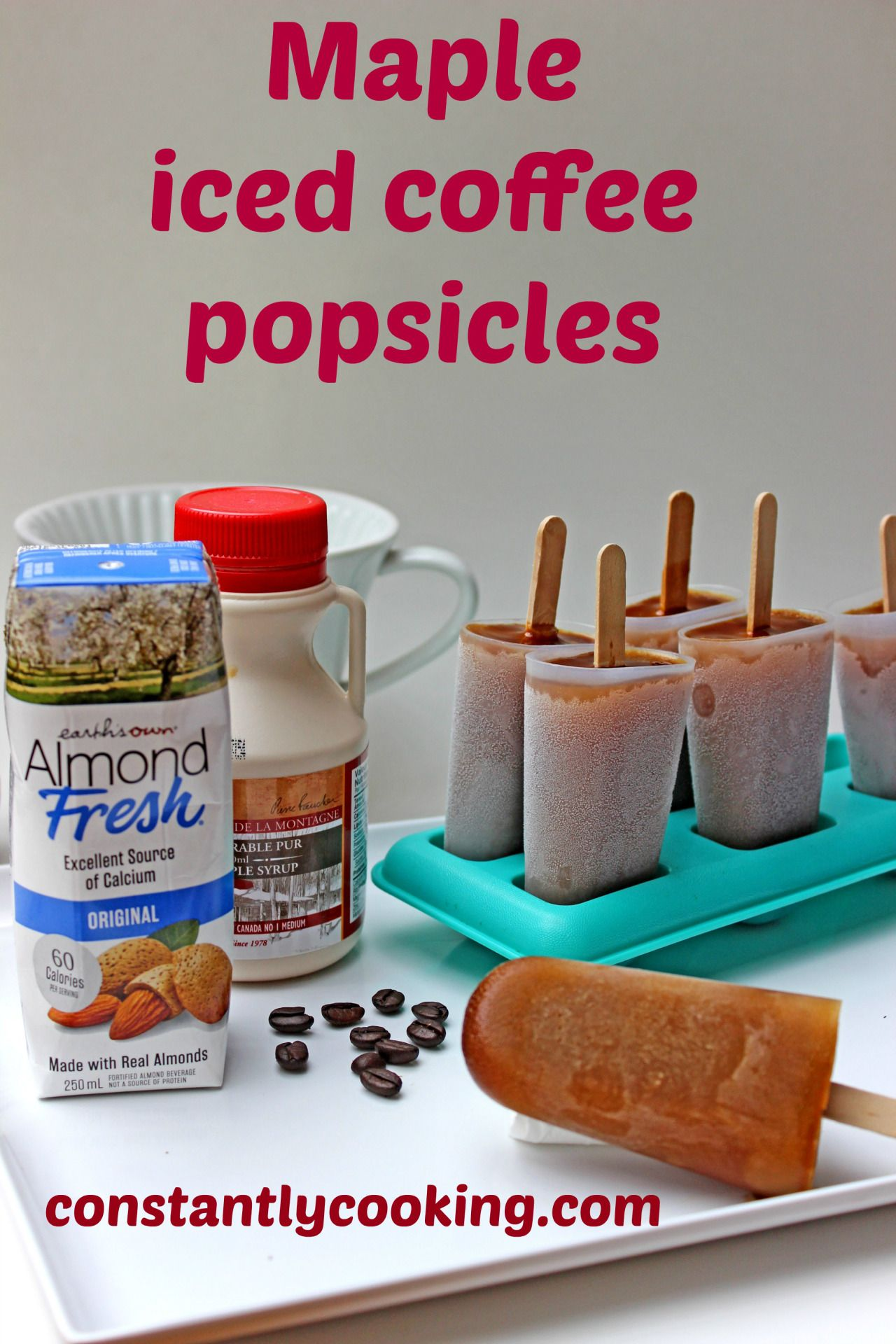 Maple iced coffee popsicles Coffee popsicles, Iced