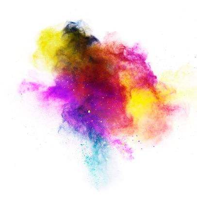 Bright Colored Powder Exploding Shot On White Backdrop Watercolor What Is Graphic Design White Backdrop