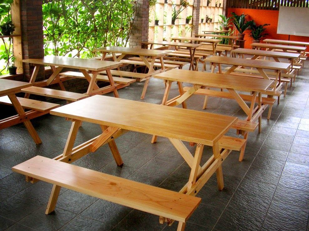 jati furniture minimalis meja taman
