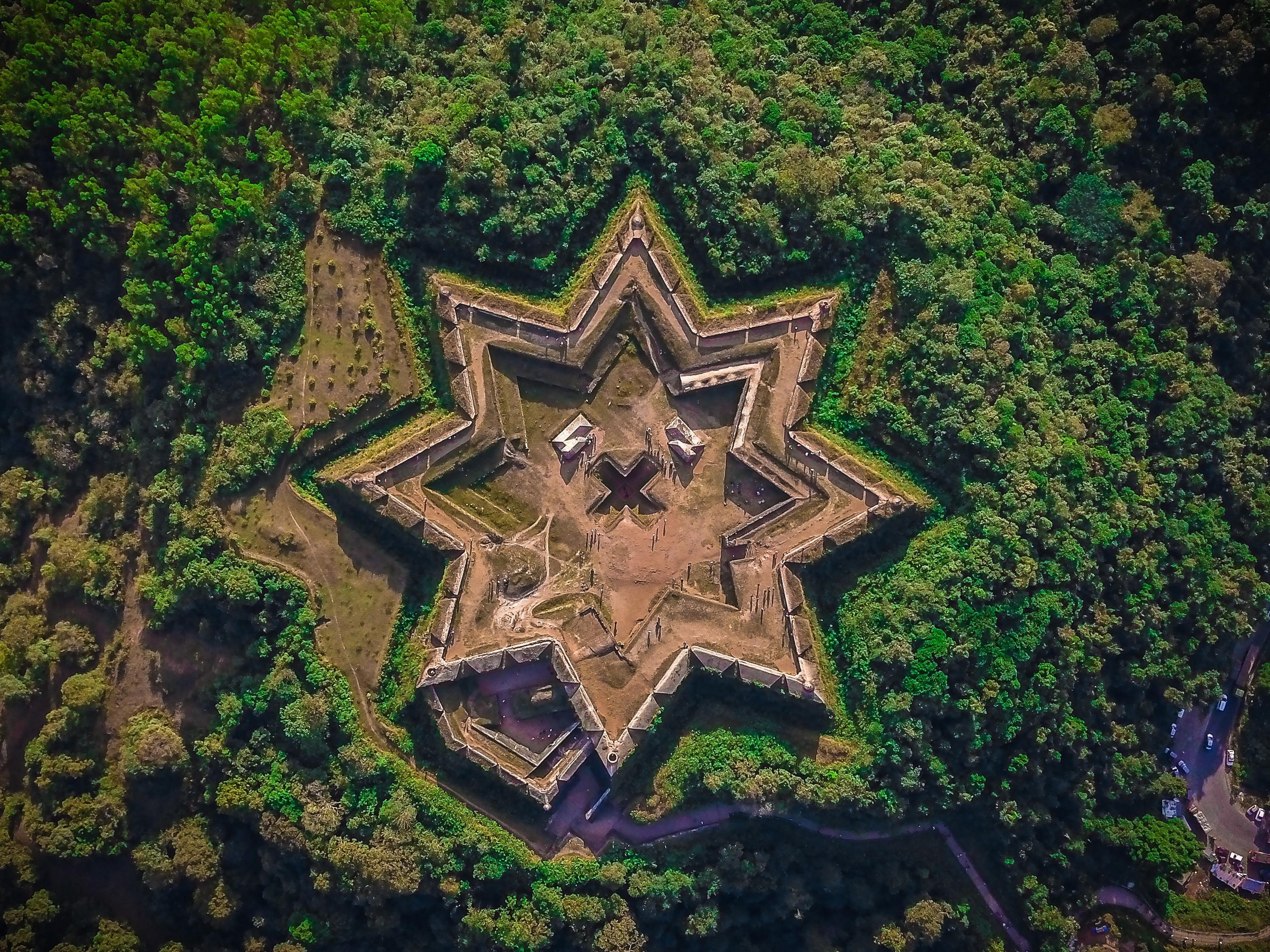 "Manjarabad ""Star' Fort India #backpacker #travel #backpacking #ttot #tent  #traveling https://bit.ly/2UrgRPV | Star fort, Star fortress, Fort"