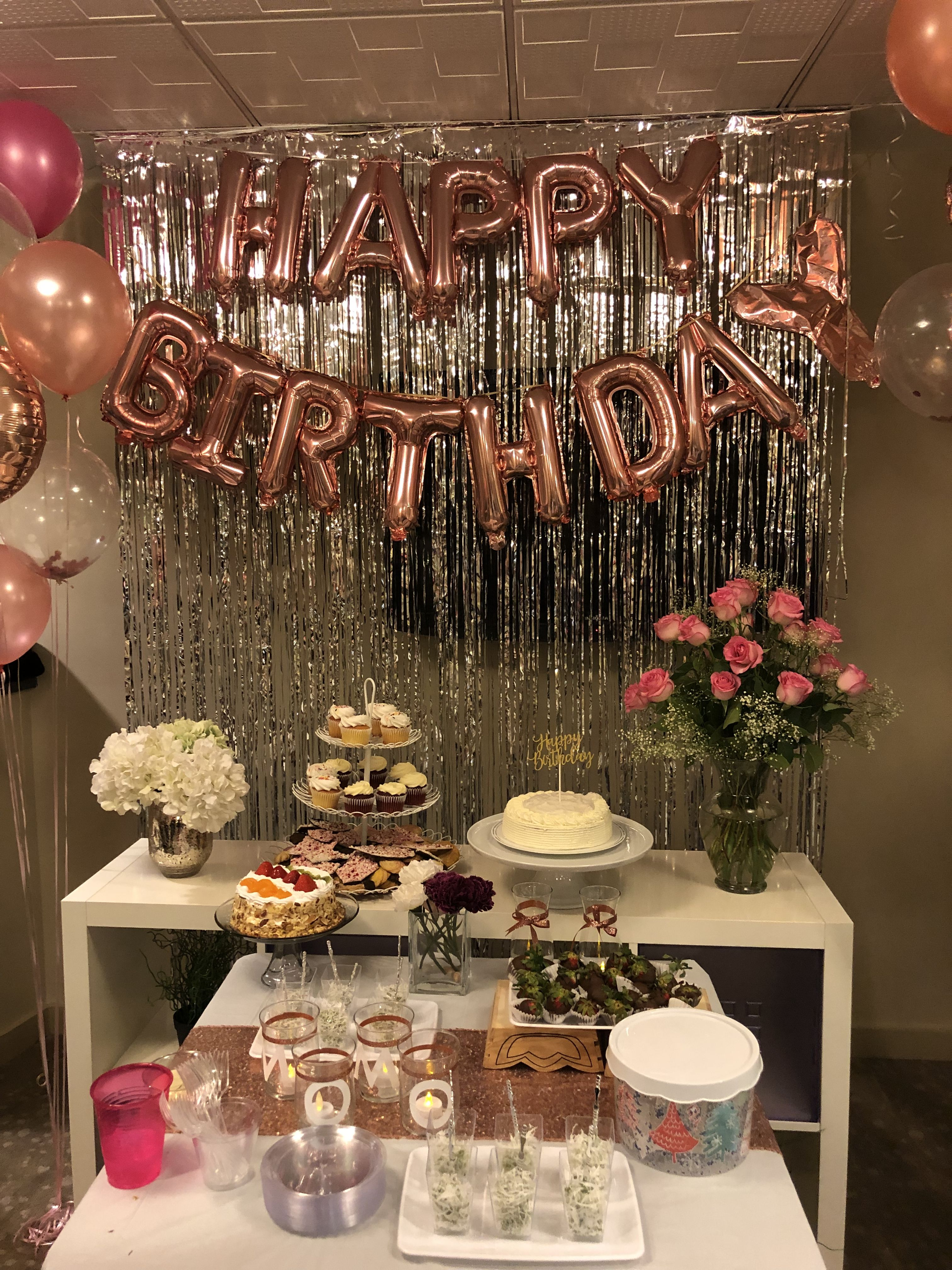 Pin by Jintana Tongchun on Rose gold birthday party ideas | Gold birthday, Gold birthday party ...