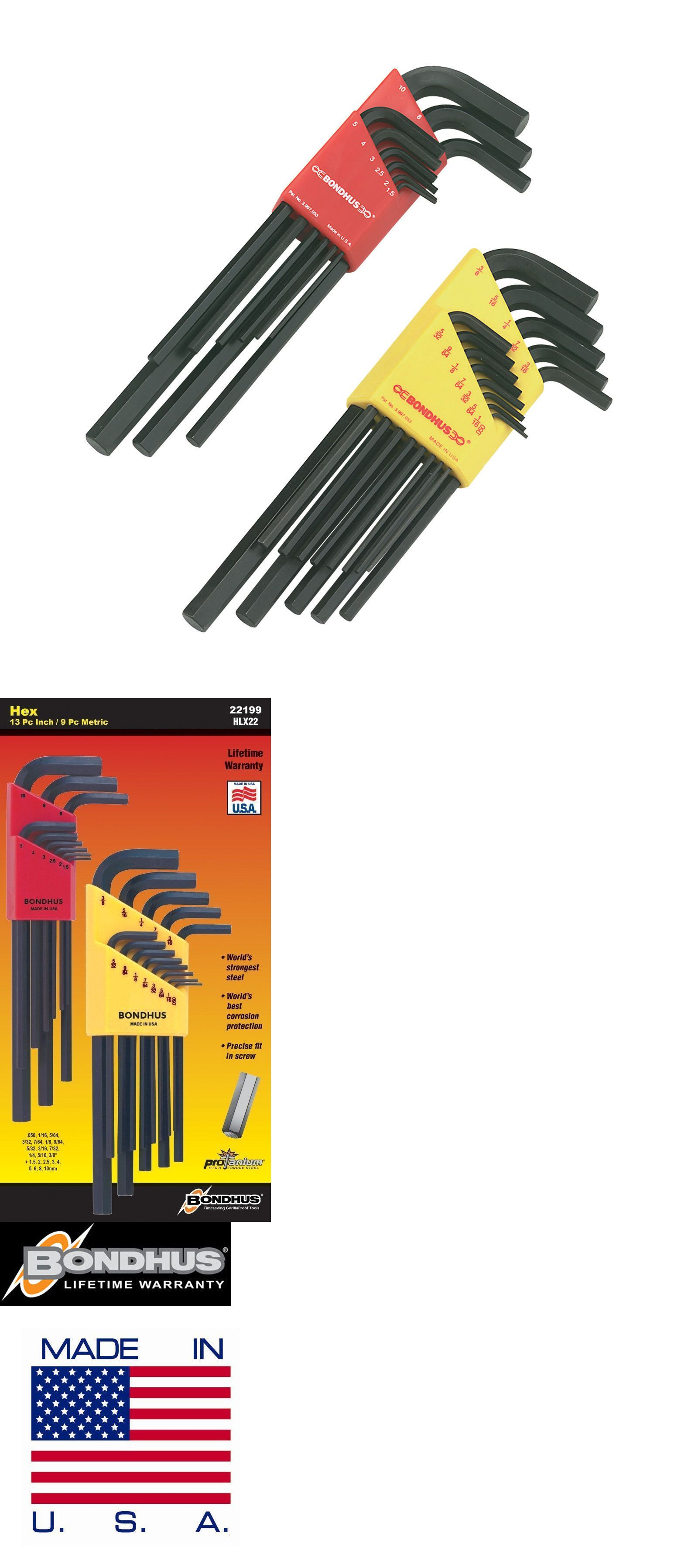 Hex Keys And Wrenches 42258 Bondhus 22199 Hex L Wrench Double Pack Long Length 12137 050 3 8 Inch And 12 Buy It Now Only 14 Hex Hex Key Wrench Set