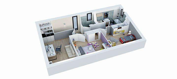 maison provencale cairanne plan etage villas trident Architecture