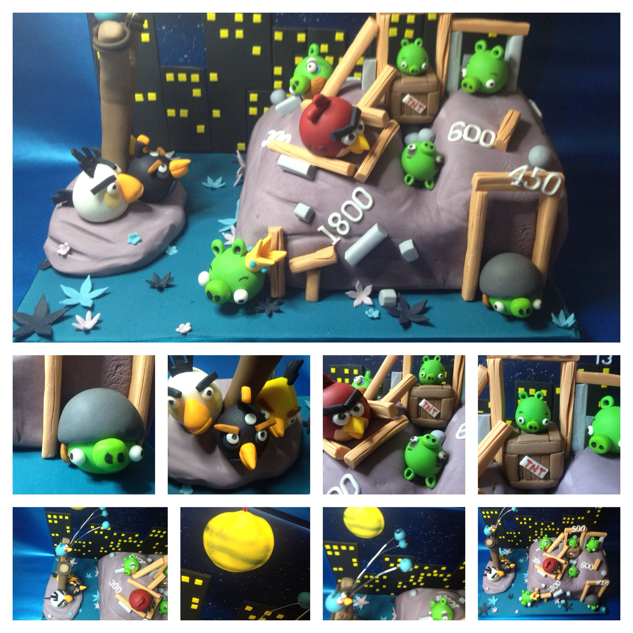 Angry birds cake This cake also had a sound card which played the theme tune