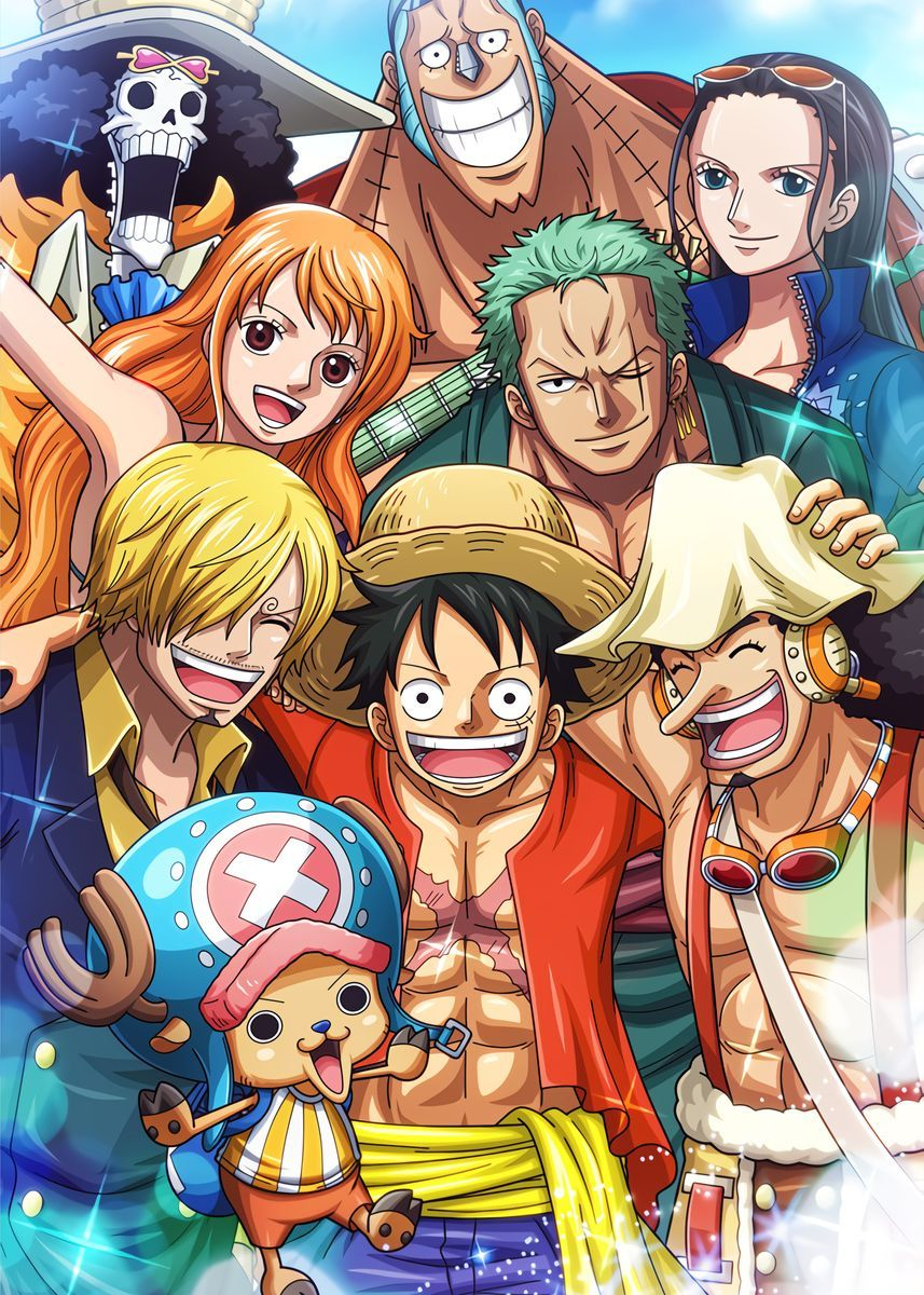 Straw Hats One Piece Poster Print By Onepiecetreasure Displate Manga Anime One Piece One Piece Anime One Piece Tattoos