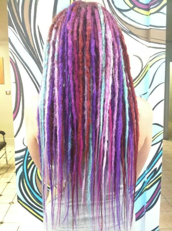 Synthetic Dreadlock Extensions At G Spot Hair Design Des Moines Iowa